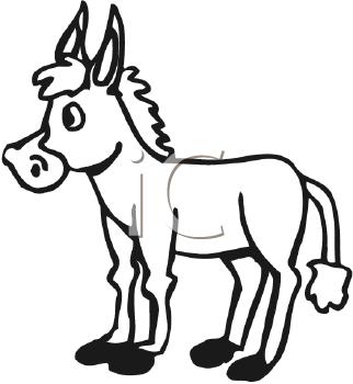 322x350 Royalty Free Burro Clip Art, Horse Clipart