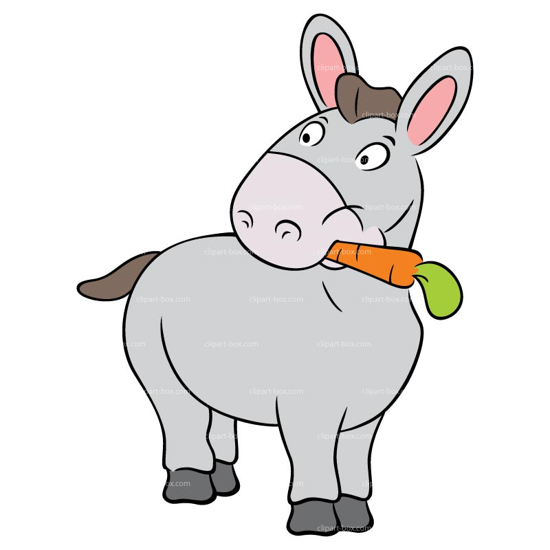 800x800 Cartoon Donkey Clipart