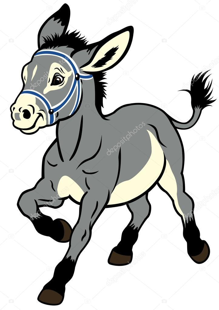 722x1023 Cartoon Donkey Stock Vector Insima
