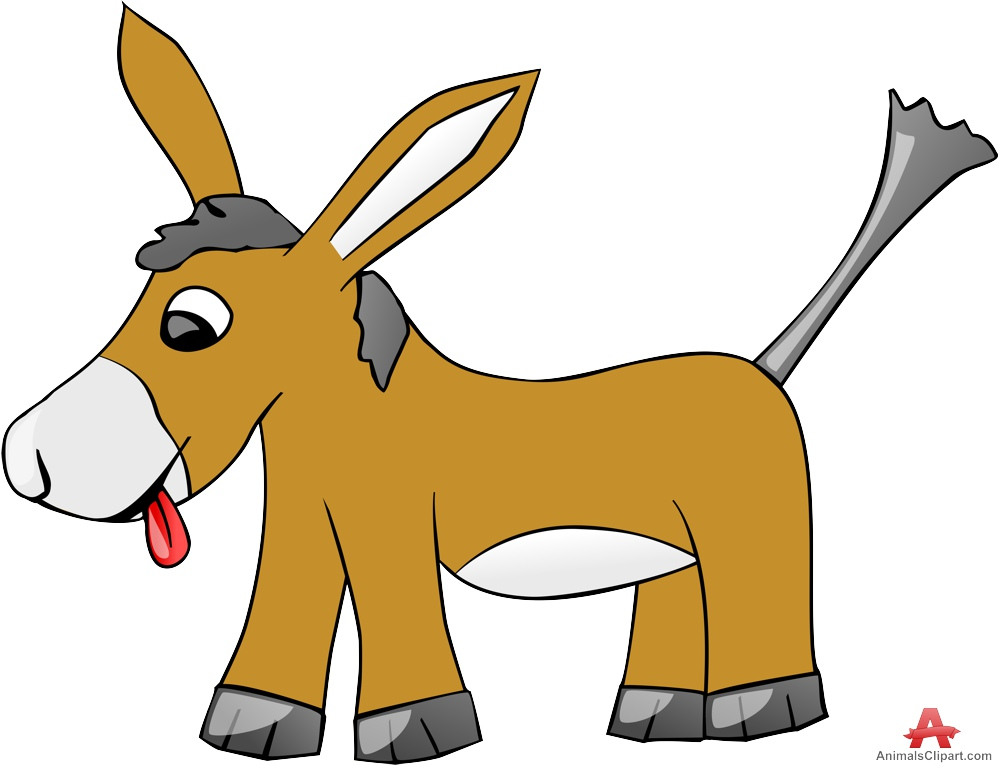 999x766 Cute Animal Donkey Cartoon Character Free Clipart Design Download