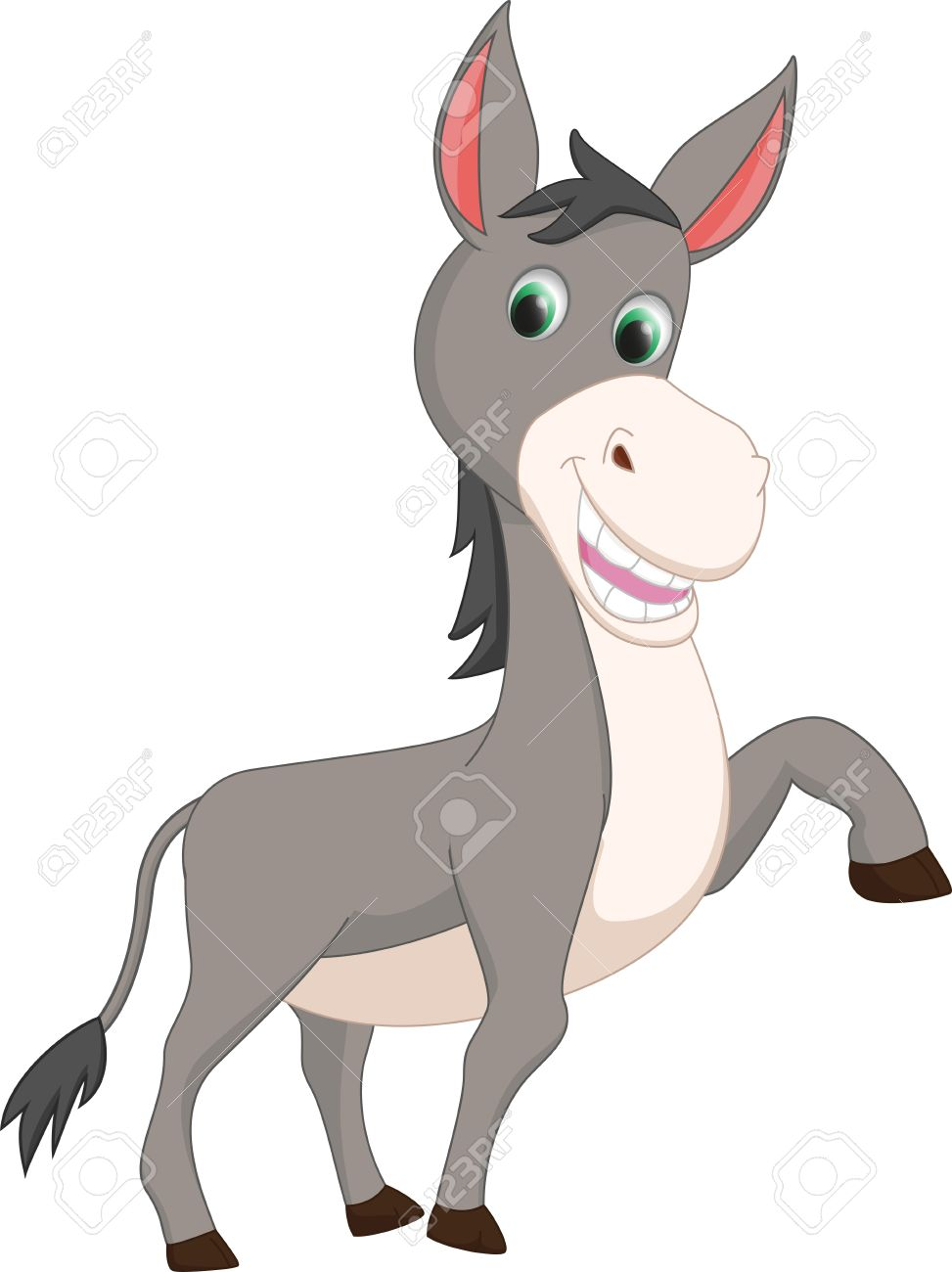 973x1300 Cute Donkey Cartoon Royalty Free Cliparts, Vectors, And Stock