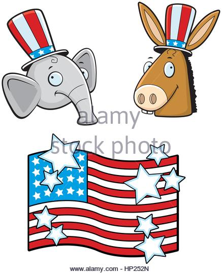 437x540 Donkey Elephant Cartoon Stock Photos Amp Donkey Elephant Cartoon