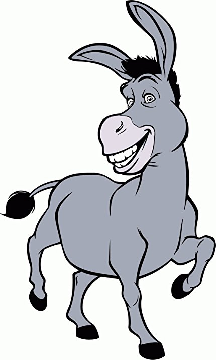 430x717 Shrek Donkey Cartoon Bumper Sticker Decal 3x 5 Home