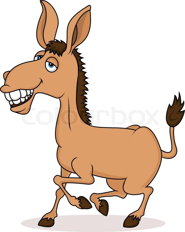 640x800 Smiling Donkey Cartoon Stock Vector Colourbox