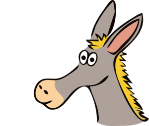300x255 Cartoon Donkey Clip Art