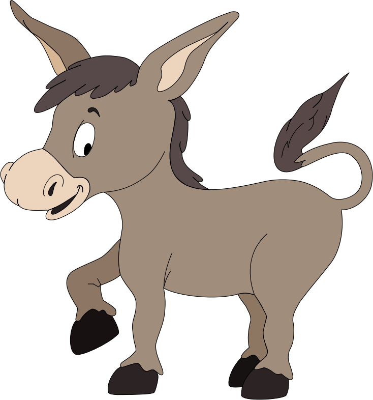 734x786 Cartoon Donkey Clipart
