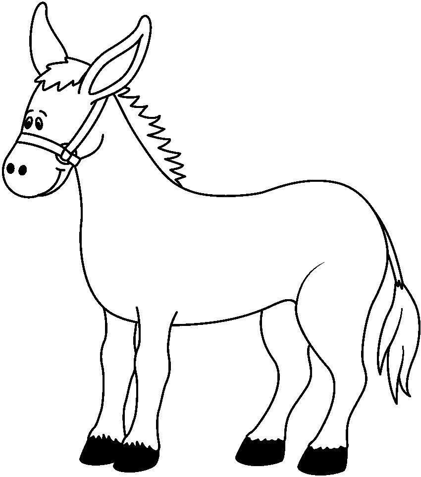 850x963 Donkey Clip Art