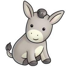 220x220 Donkey clip art donkeys