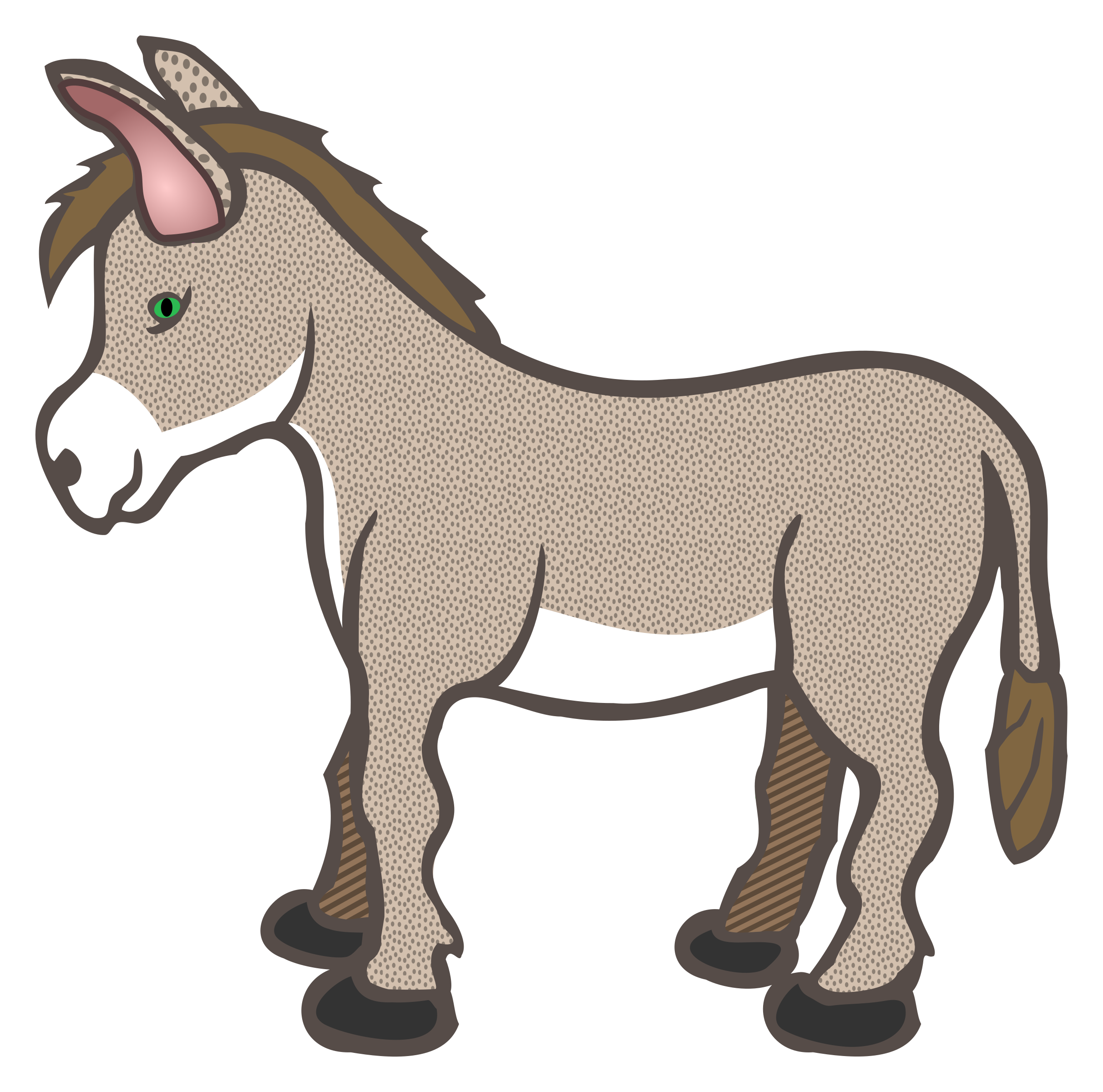 2424x2400 Donkey clipart free clipart images image