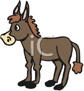 277x300 Art Image A Brown Cartoon Donkey