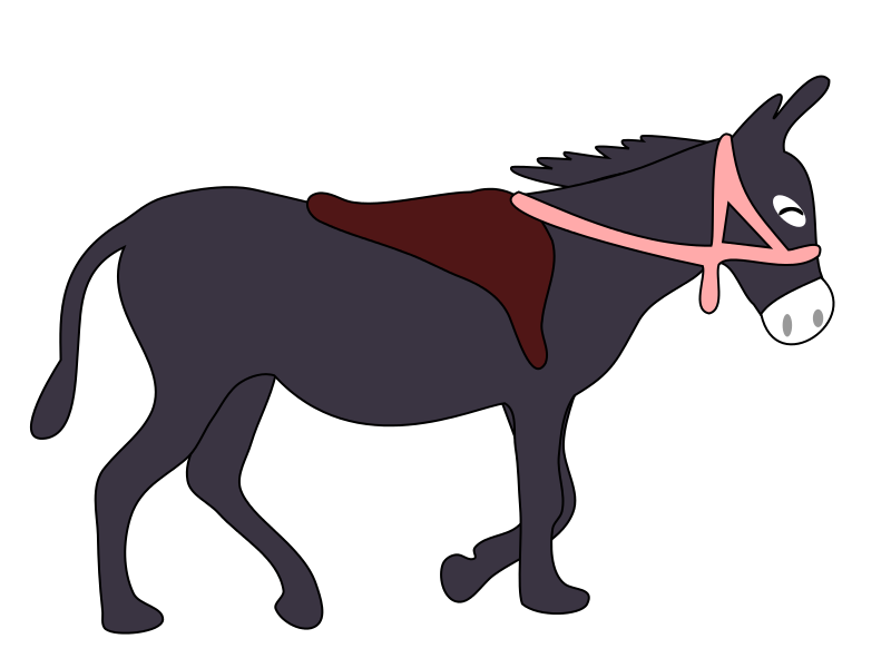 800x600 Free Donkey With Saddle Clip Art