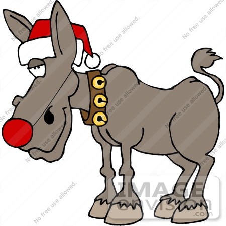 450x450 Christmas Ass, Donkey, Burro Clipart