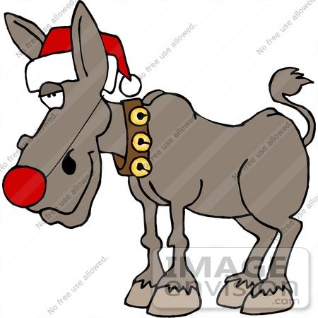450x450 Christmas Ass, Donkey, Burro Clipart