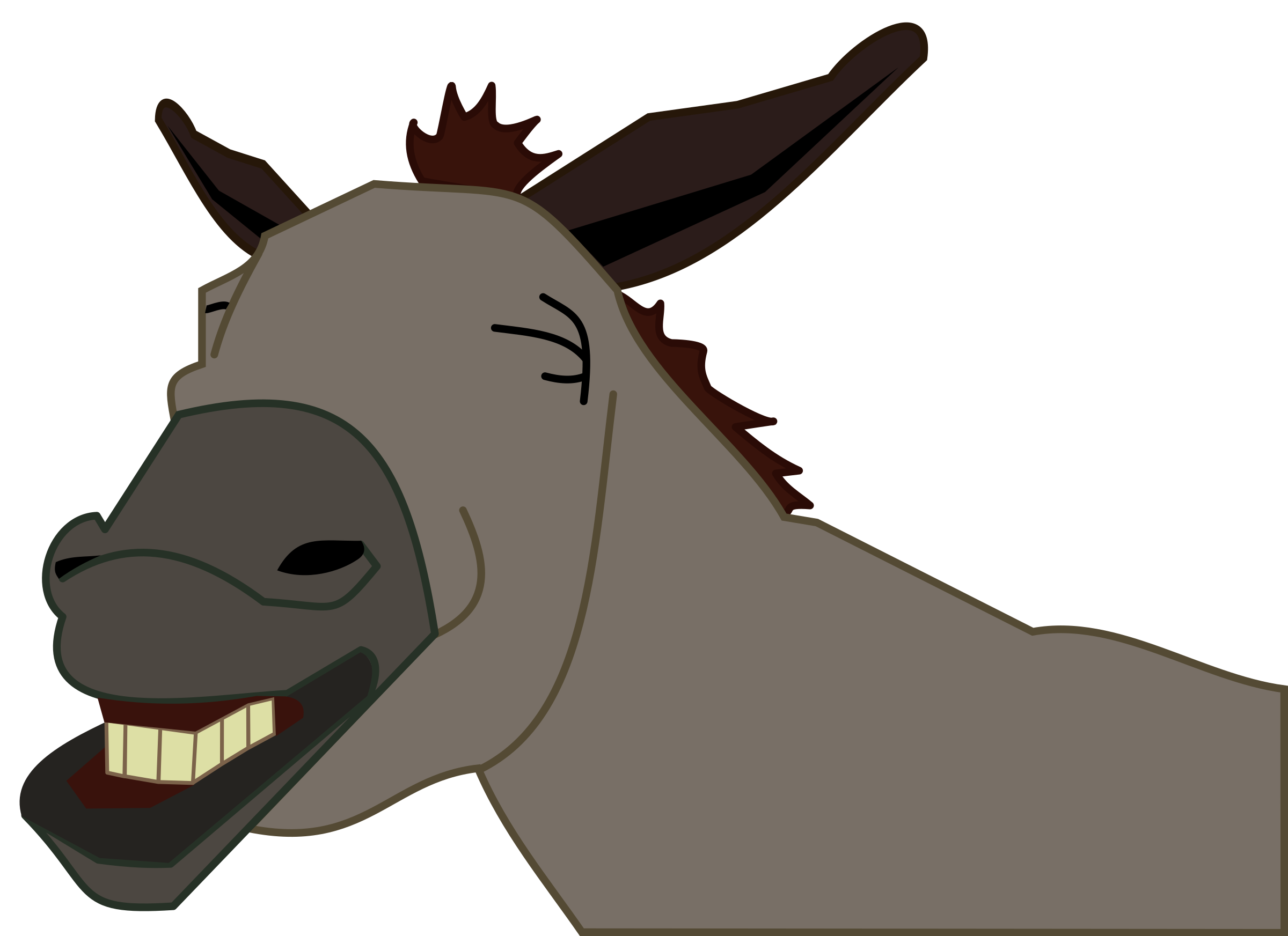 2400x1745 Head Clipart Donkey