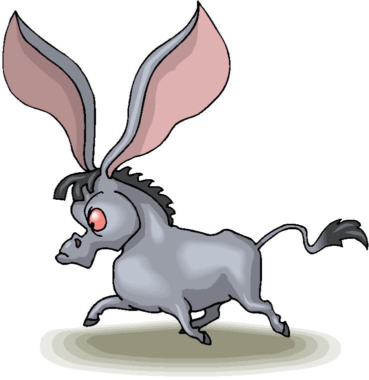 738x759 Clip Art Donkey Clipart Image