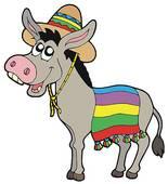 155x170 Clipart Of Smiling Donkey Cartoon K9595470