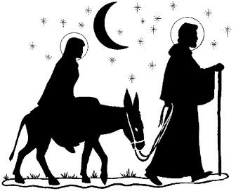 336x272 Mary And Joseph On A Donkey Clipart