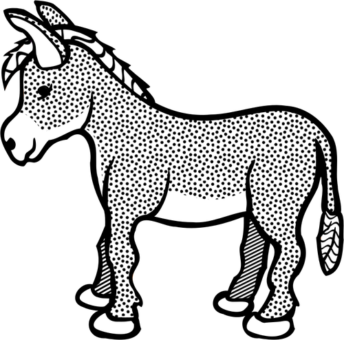 500x494 Spotty Donkey Line Art Vector Clip Art Public Domain Vectors