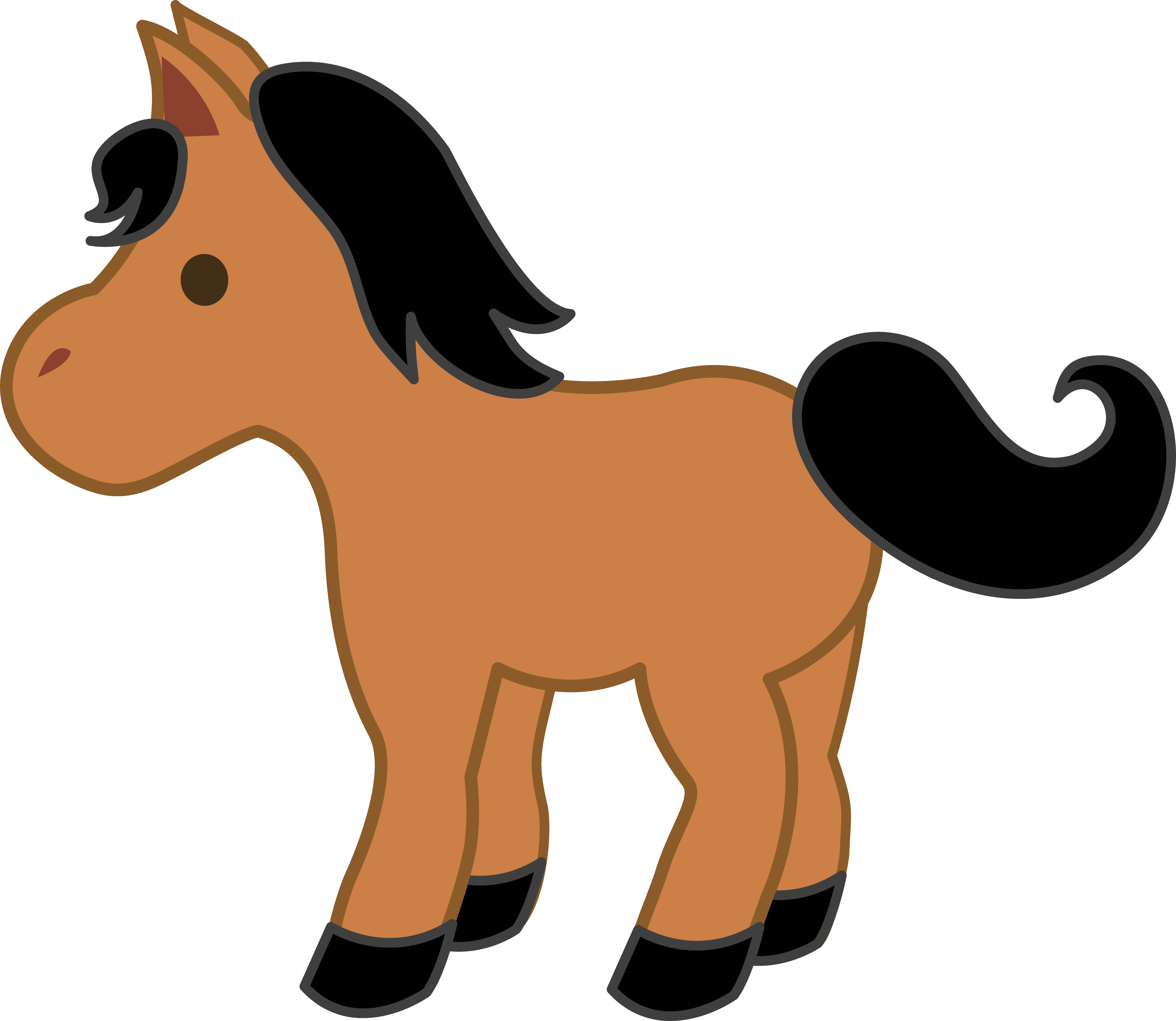 5024x4362 Donkey Clipart Cute Horse