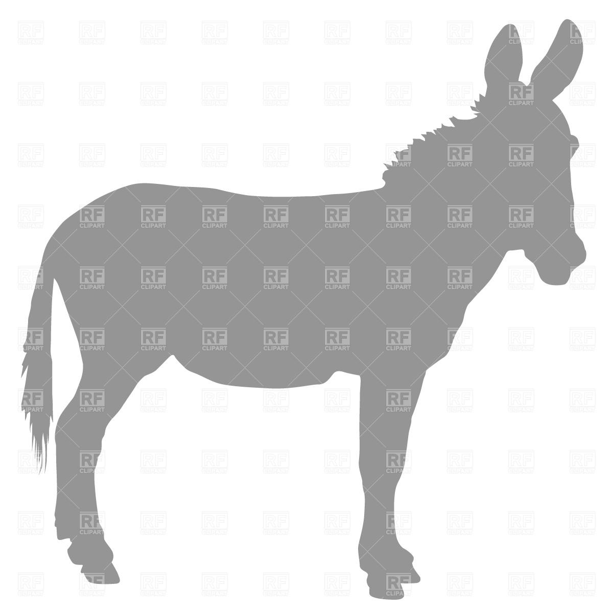 1200x1200 Donkey Profile Royalty Free Vector Clip Art Image