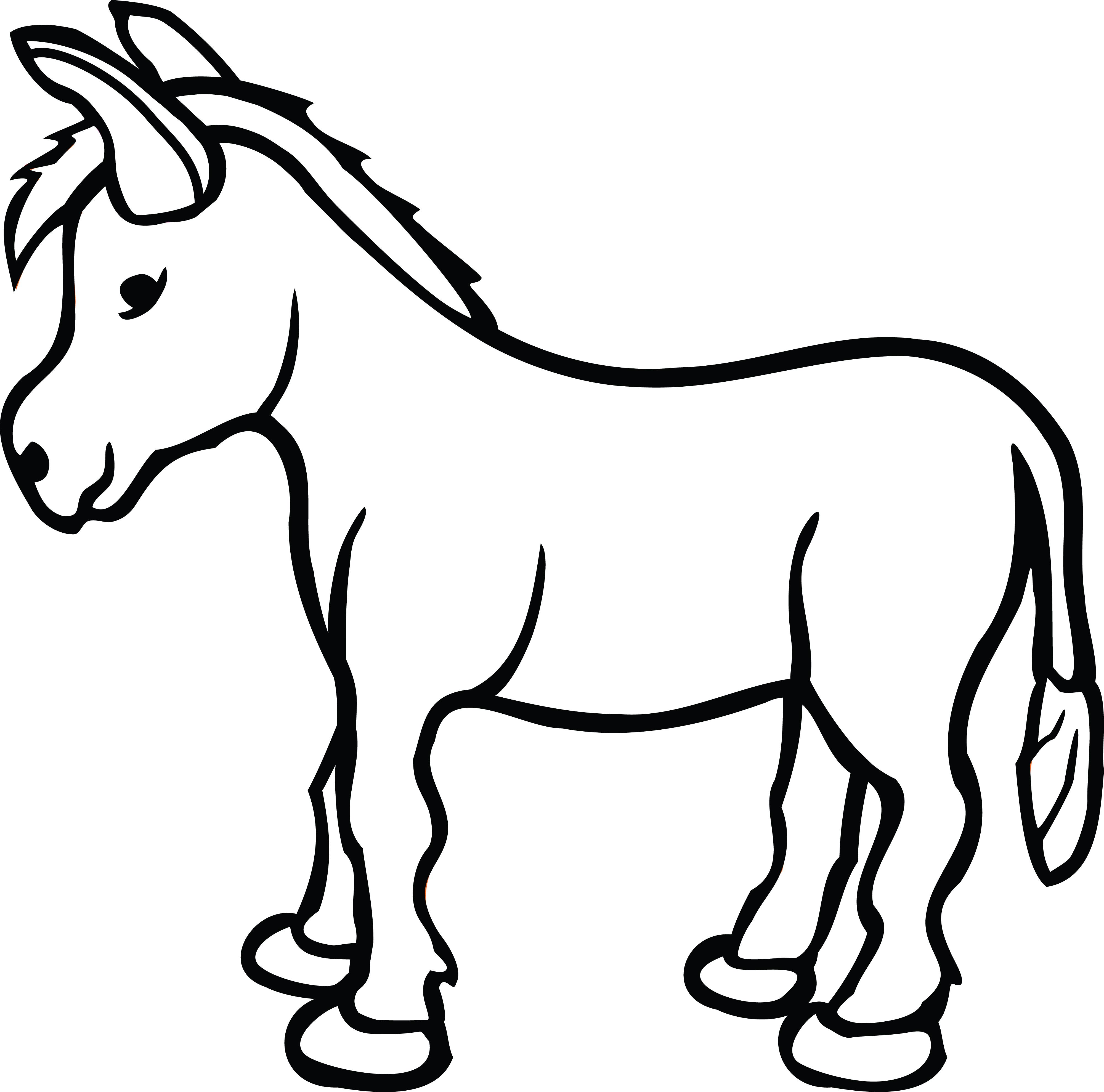4000x3957 Free Clipart Donkey 101 Clip Art