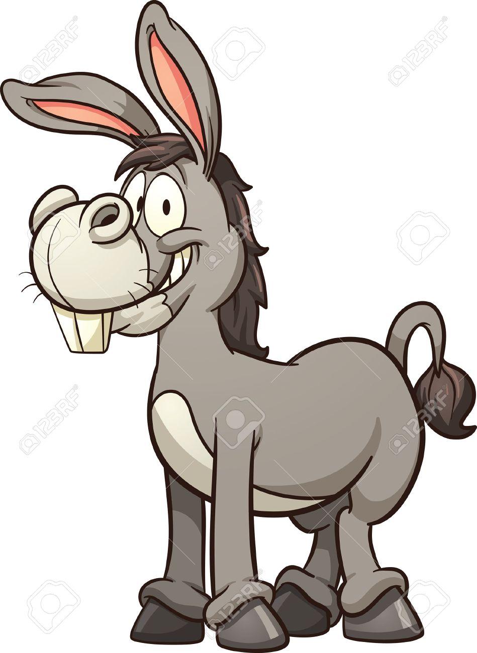 949x1300 Cartoon Donkey. Vector Clip Art Illustration With Simple Gradients