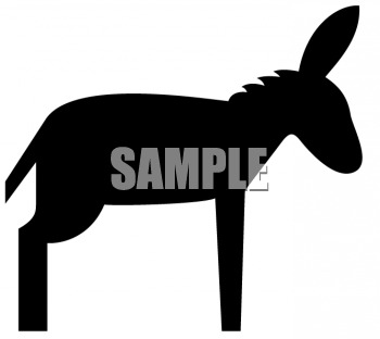 350x312 Royalty Free Donkey Clipart