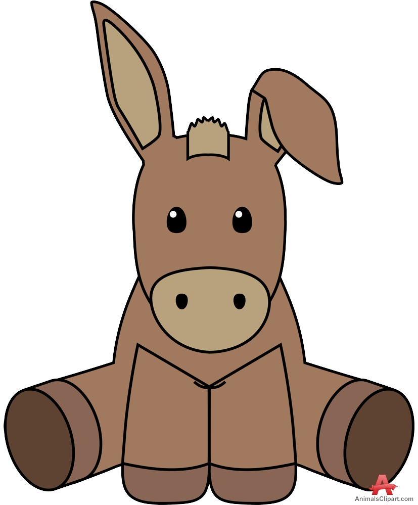 827x999 Teddy Donkey Toy Free Clipart Design Download
