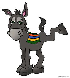 236x263 Cartoon Mule Donkey With A Load Clip Art