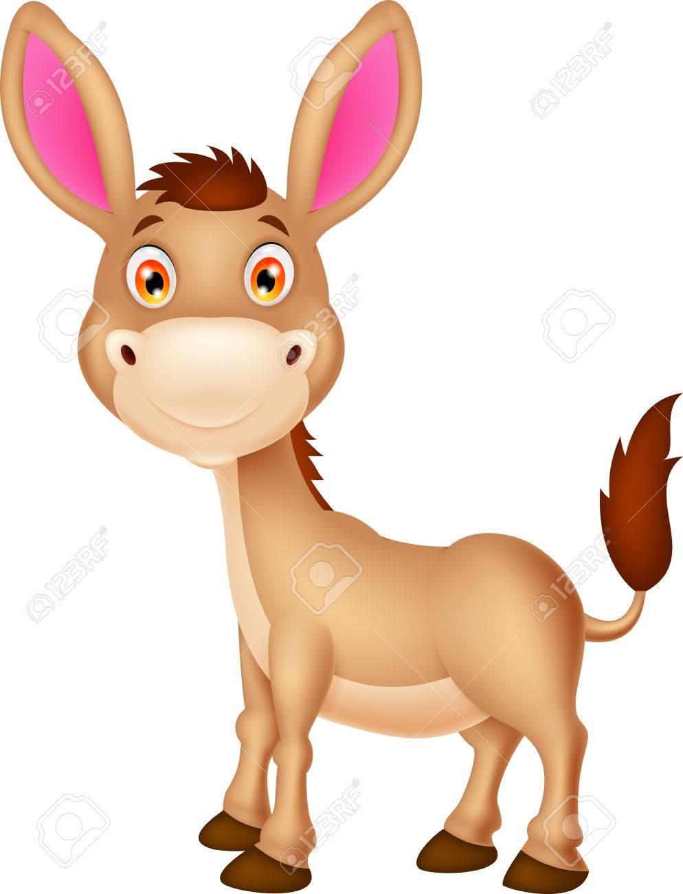 994x1300 Cute Donkey Cartoon Royalty Free Cliparts, Vectors, And Stock