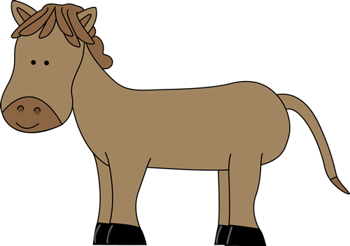 500x352 Donkey Clipart Cute Horse