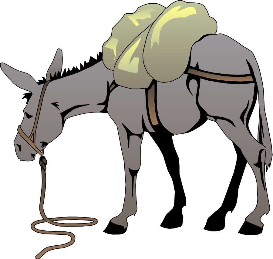 900x854 Free Donkey Clipart