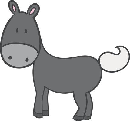 429x400 Little Donkey Clipart