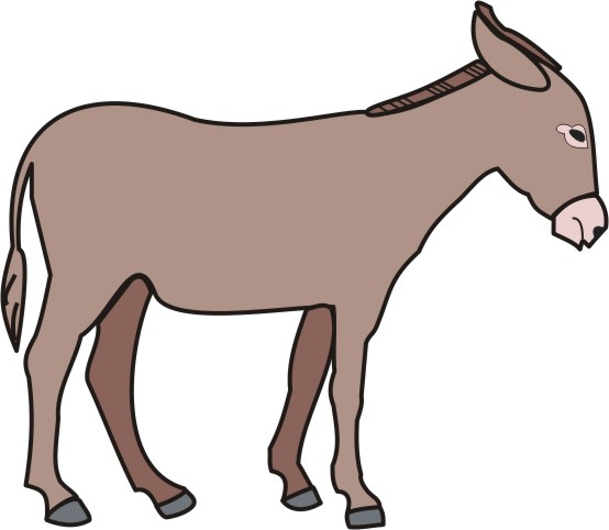 554x482 Donkey Coloring Pages For Kids To Color And Print