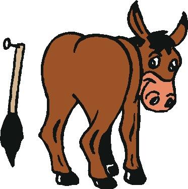 373x376 Moving Clipart Donkey