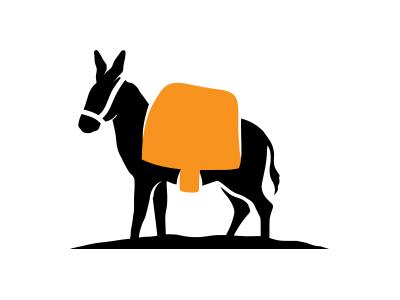 400x300 Donkey Clipart Loaded