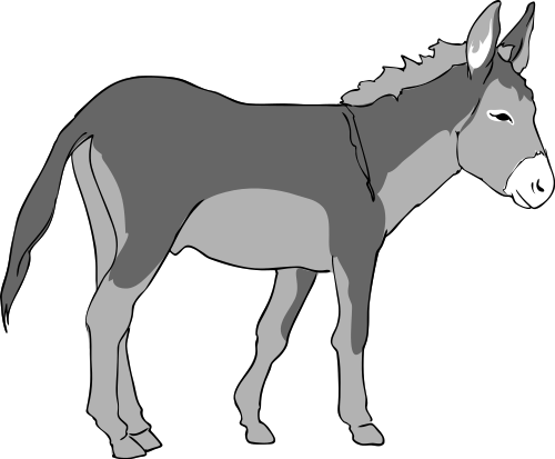 500x413 Donkey Clip Art Free Clipart Images 2