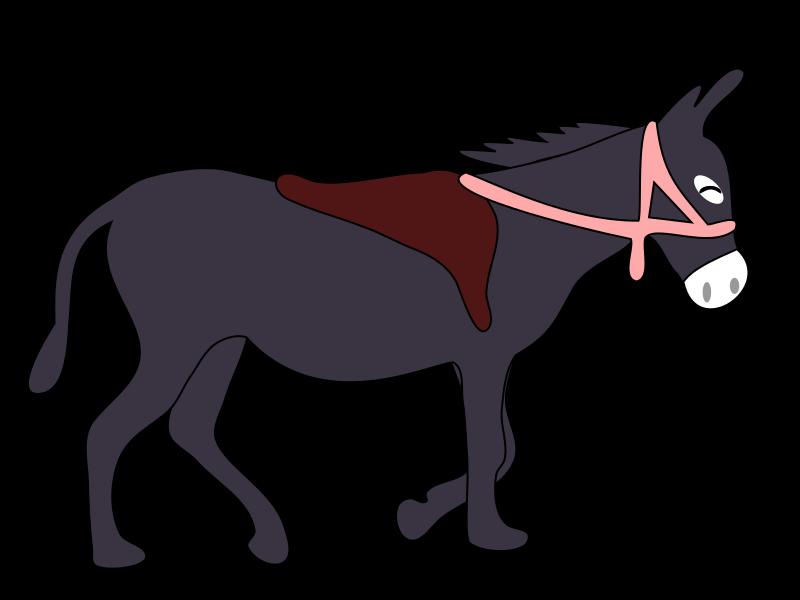 800x600 Free Donkey With Saddle Clip Art