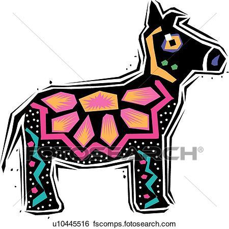450x449 Clip Art Of Donkey U10445516