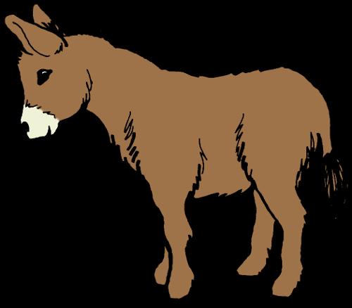 500x438 Clip Art Donkey Clipart Image