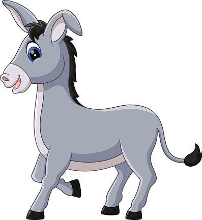 397x433 Cartoon Donkey Smile Stock Vectors
