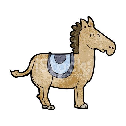 440x440 Cartoon Donkey Stock Vector