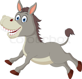 320x309 Donkey Head Cartoon Stock Vector Colourbox