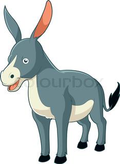 234x320 Funny Donkey Cartoon Stock Vector Colourbox