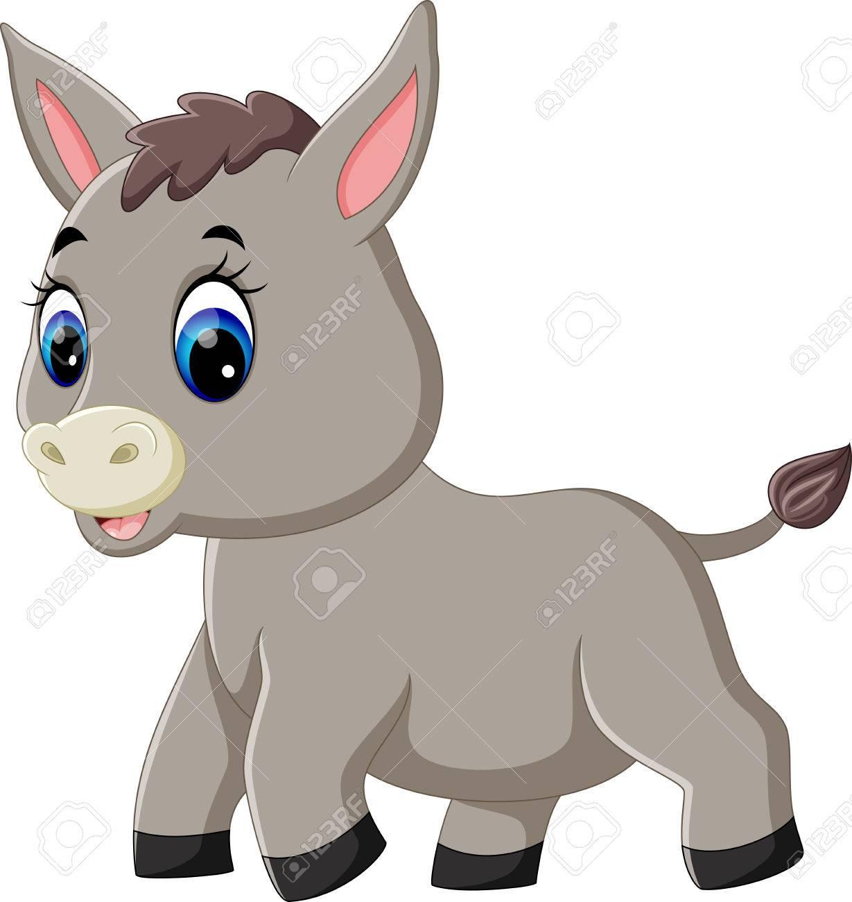 1229x1300 Illustration Of Cute Baby Donkey Cartoon Royalty Free Cliparts