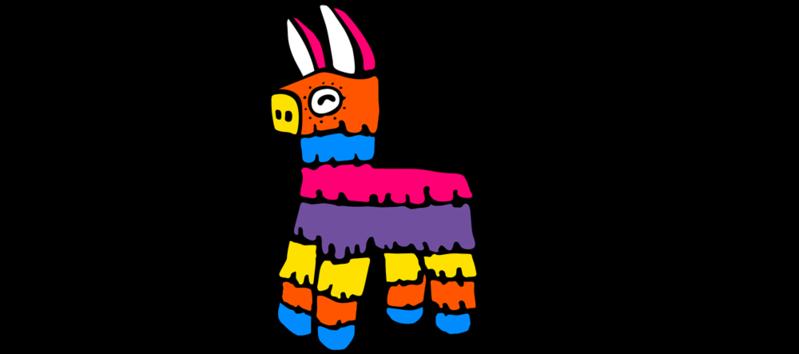 799x354 Donkey Clipart Pinata