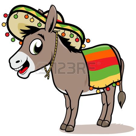 450x450 Mexican Man Riding A Donkey Royalty Free Cliparts, Vectors,