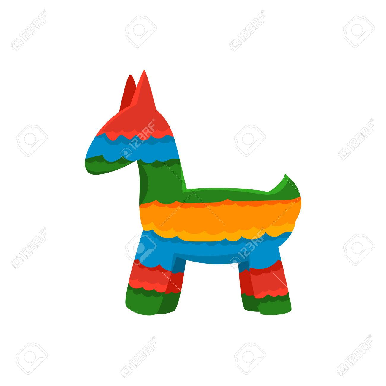 1300x1300 Traditional Mexican Pinata Isolated Flat Vector Cute Illustration