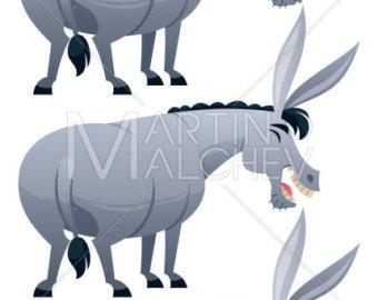 340x270 Donkey Illustration Etsy