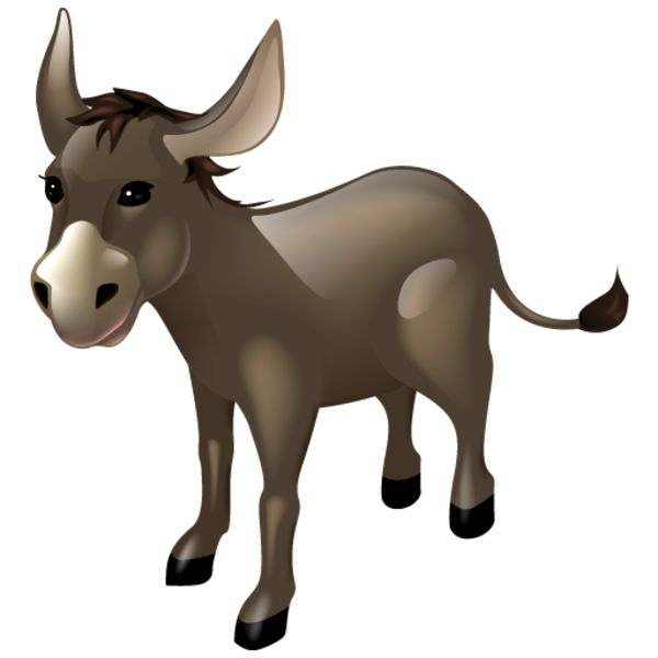 600x600 Moving Clipart Donkey